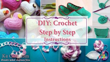 15 Beautiful Easy DIY Crochet Projects Step By