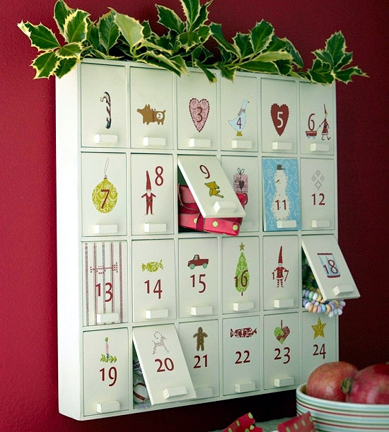 Calendar Craft Projects : Homemade advent calendar craft ideas art