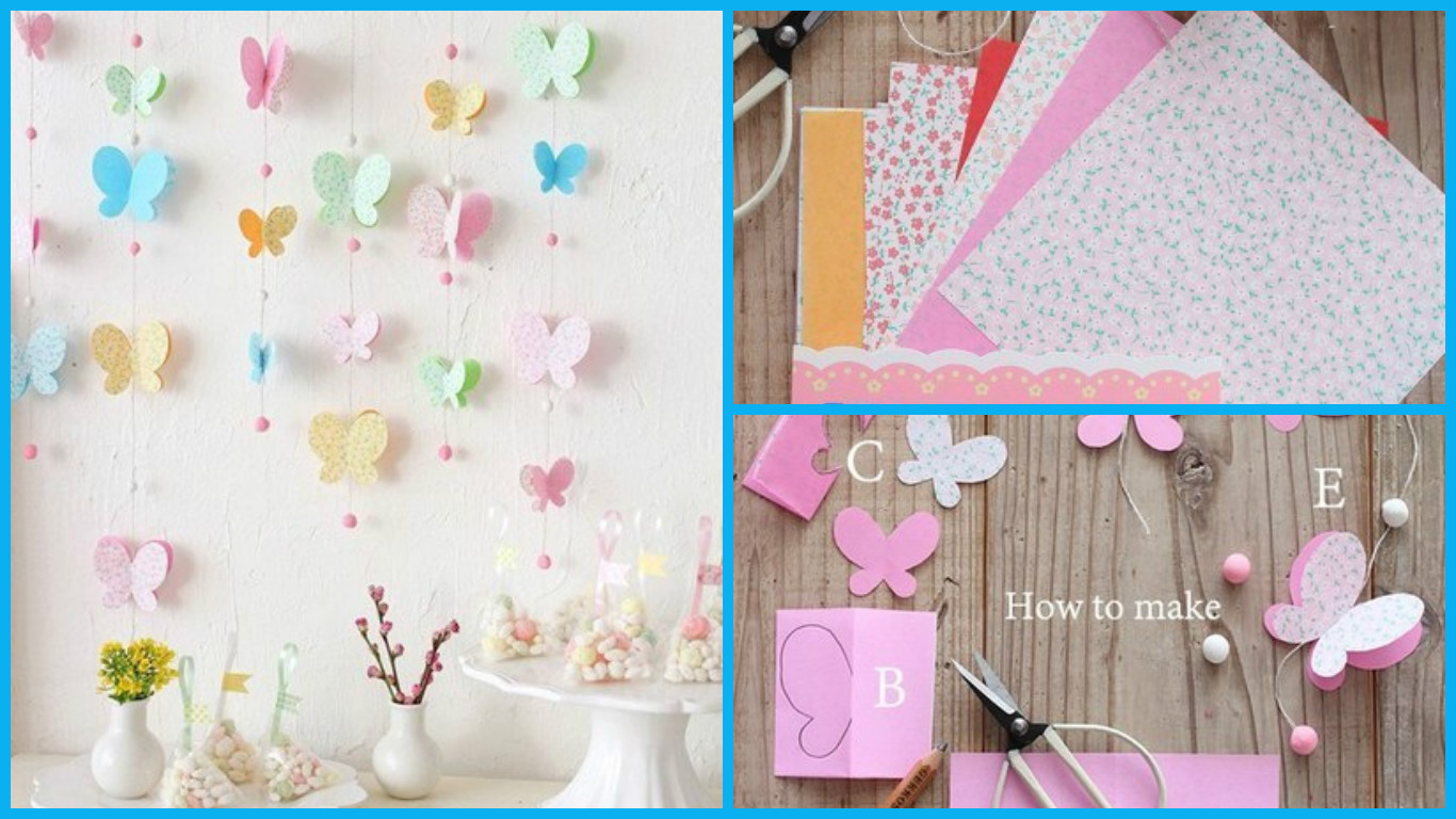 Beautiful butterflies in a spring decor art craft ideas for Butterflies for crafts and decoration
