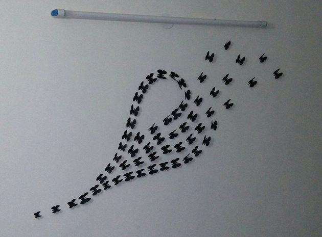 Butterfly Wall Art Around 60 Butterflies Of Different Size I Used Smaller In Making The Tail Heart Then Remaining Ascending Order