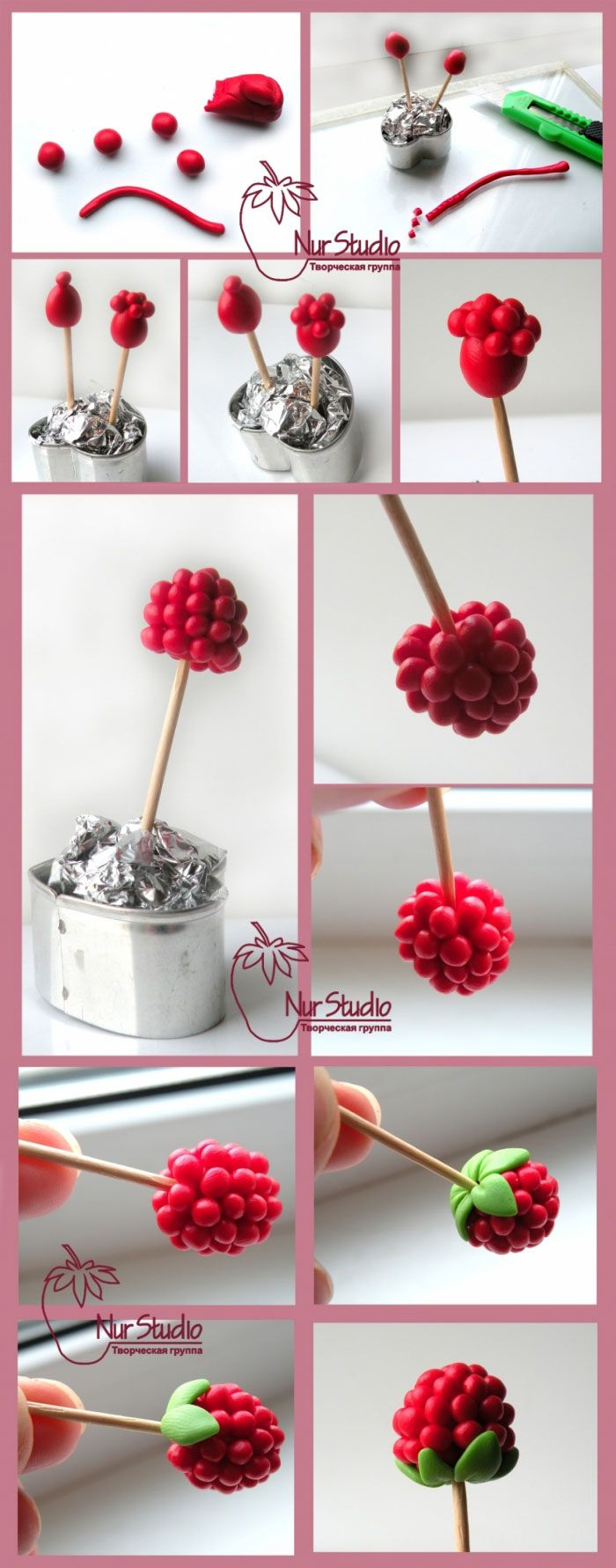 20 diy beautiful polymer clay flower step by step art for Flower making ideas step by step