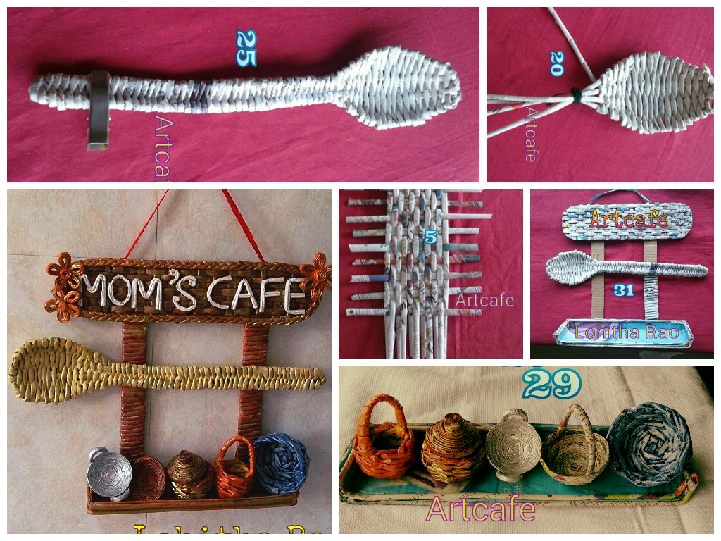 Craft For Kitchen How To Make Newspaper Weaving Art For Kitchen Art Craft Ideas
