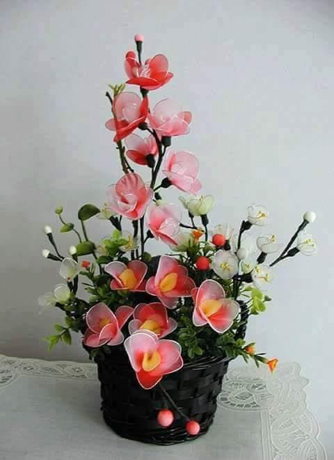 Diy Handmade Beautiful Nylon Flower Art Amp Craft Ideas
