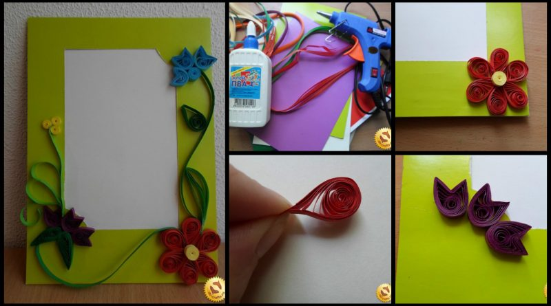 How to make quilling frame of cardboard - Art & Craft Ideas