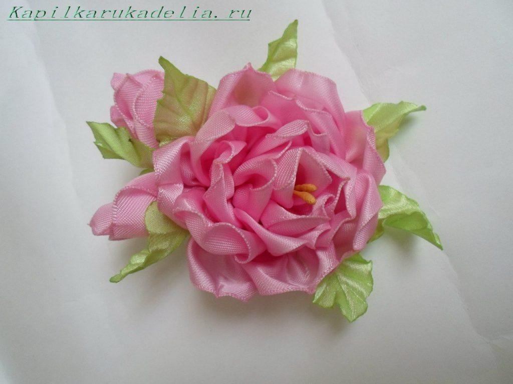 Цветы из атласа своими руками с пошаговым фото
