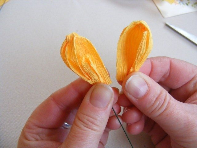 Spring Crocuses Of Corrugated Paper Step By Step Art