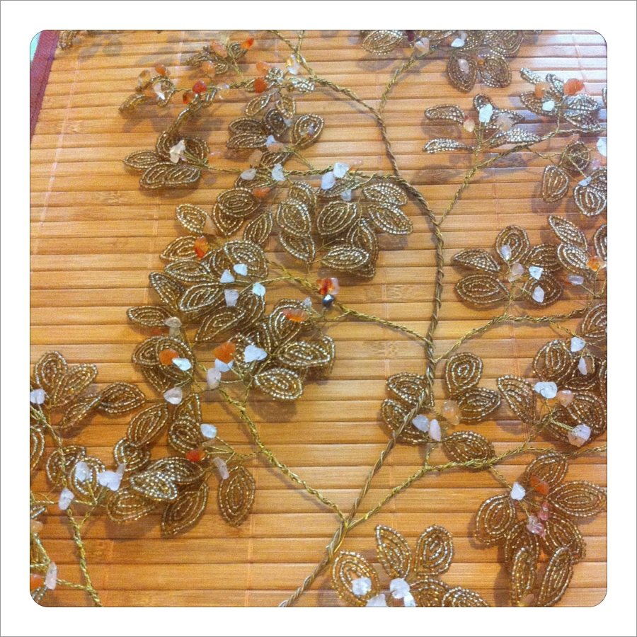 Flower Wall Paneling : How to make bead flower wall panels step by art