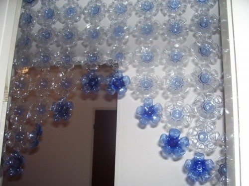 Как сделать шторку из пластиковых бутылок своими руками