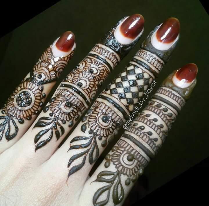 15 Beautiful Mehndi Designs For Fingers Art Amp Craft Ideas