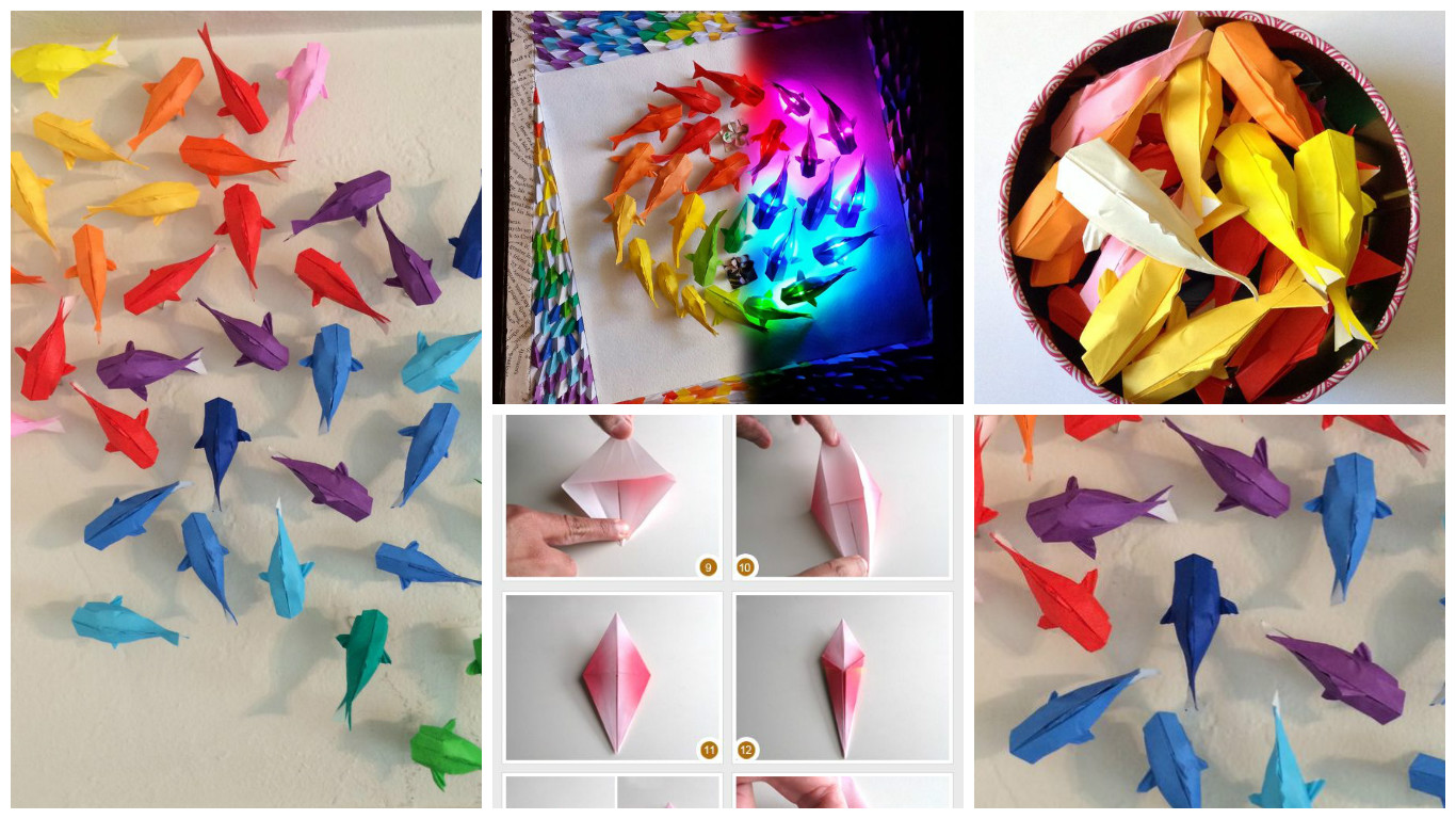 DIY Origami fish - Art & Craft Ideas - photo#48