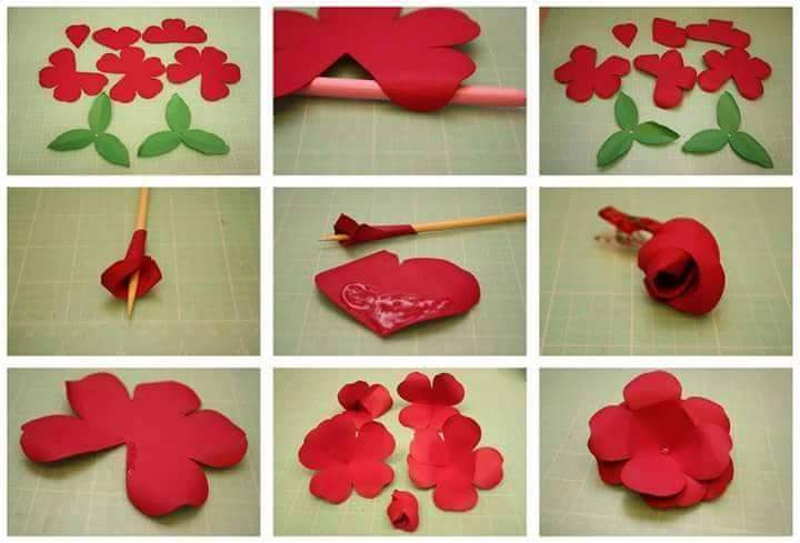 DIY Beautiful Paper Flower Step By Art amp Craft Ideas