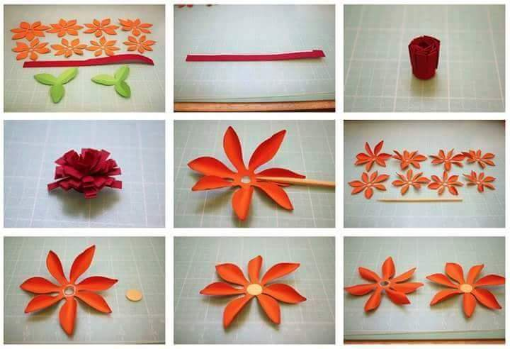 craft how to make beautiful paper flowers step by step