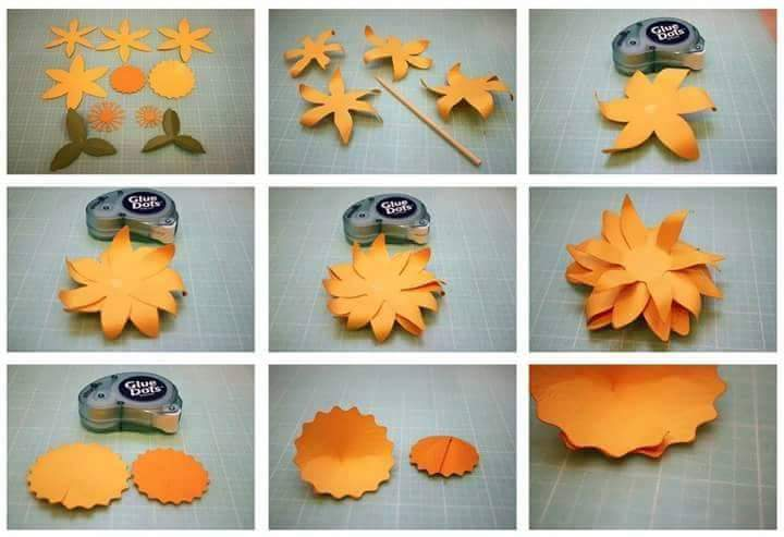Diy beautiful paper flower step by step art craft ideas shares 664 mightylinksfo