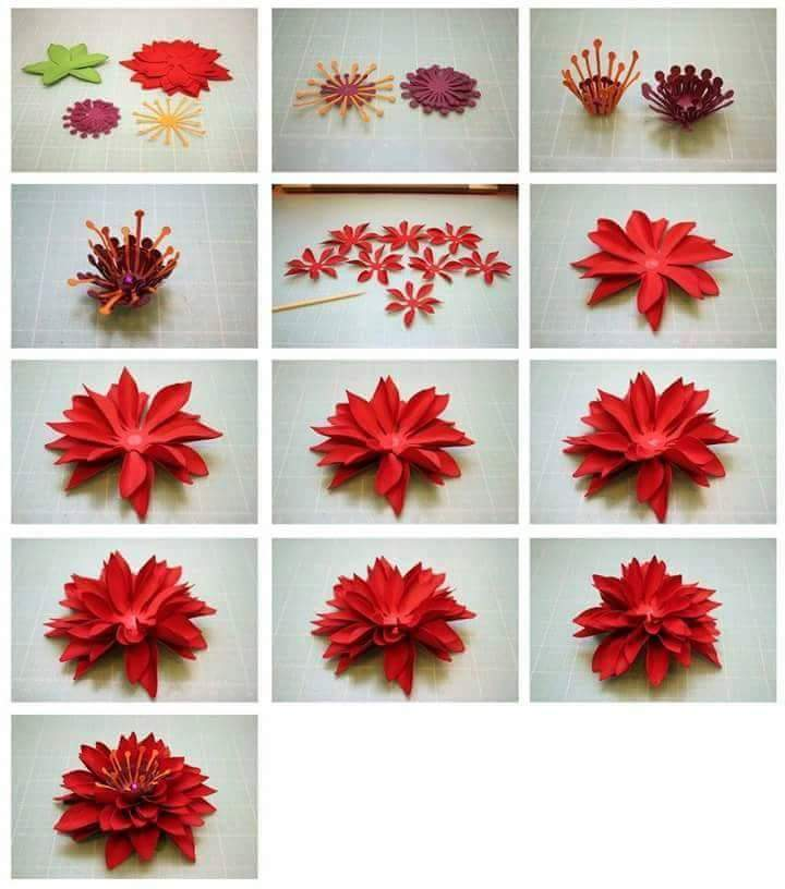 how to make beautiful paper flowers step by step