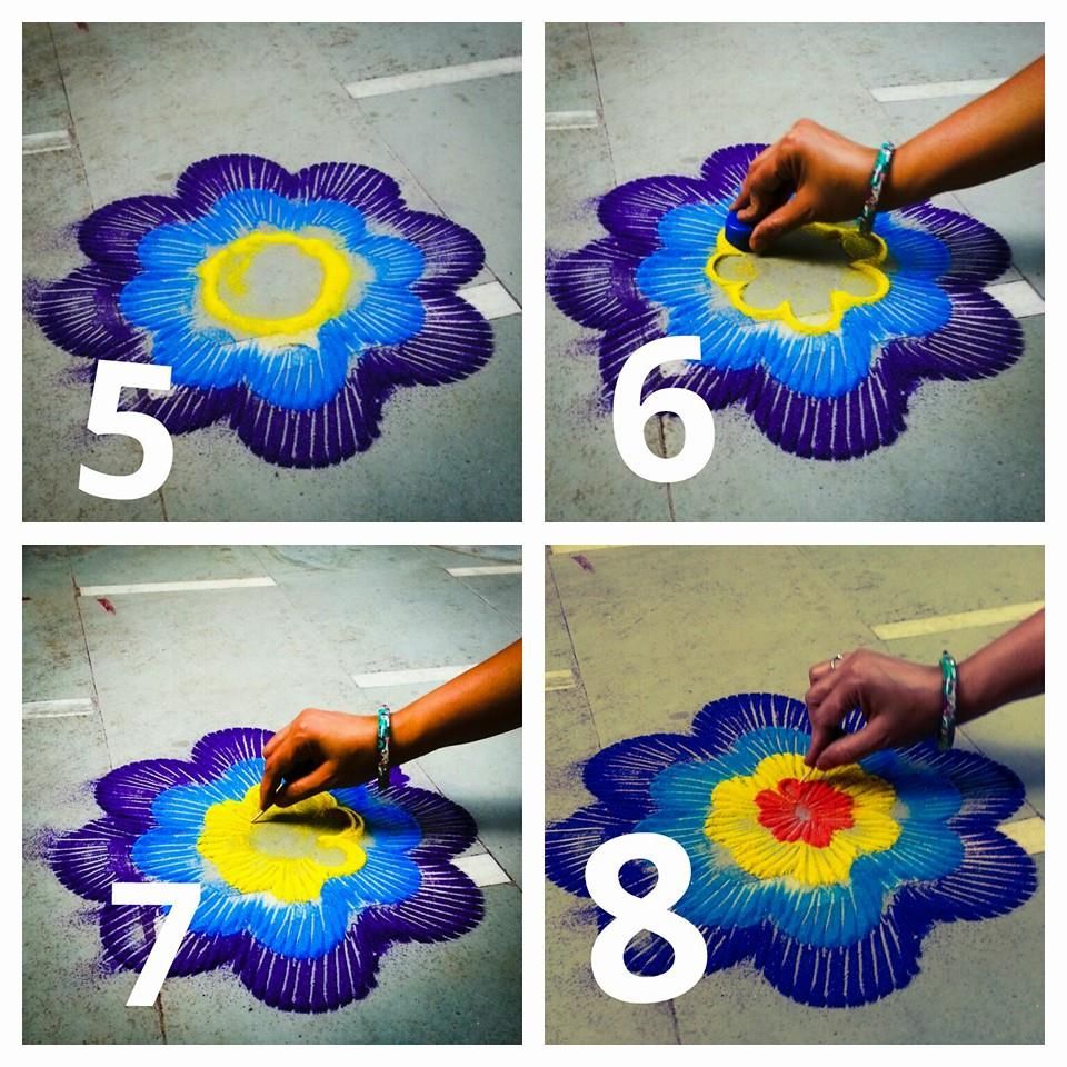 Beautiful Rangoli Making Idea Step By Step Art Amp Craft Ideas
