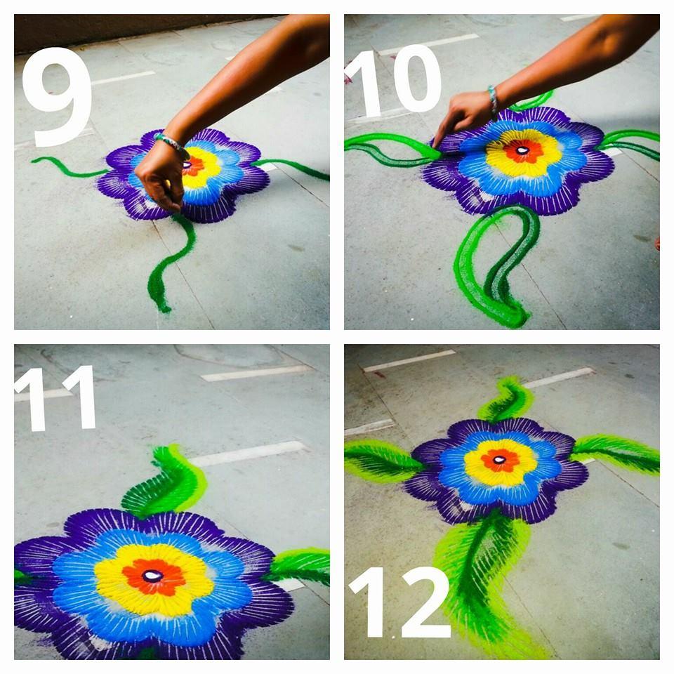 Beautiful Rangoli Making Idea Step By Step Art Amp Craft