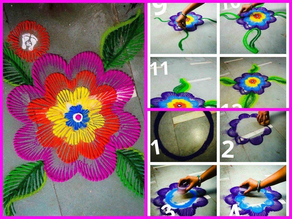 Beautiful Rangoli Making Idea