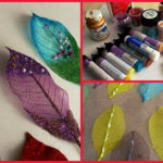 How to decorate skeletonized leaves