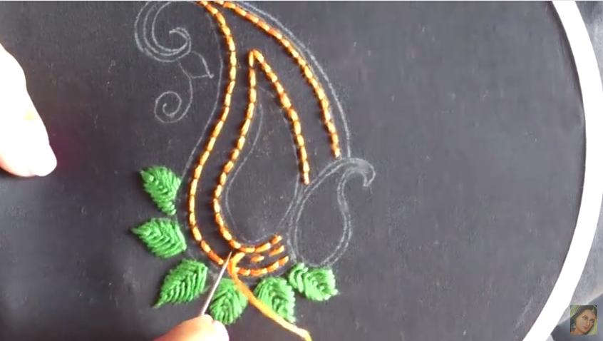 Aari Style Hand Embroidery Designs Art Amp Craft Ideas