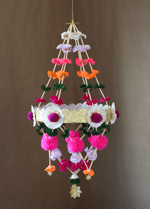 Pajaki archives art craft ideas for Chandelier craft ideas