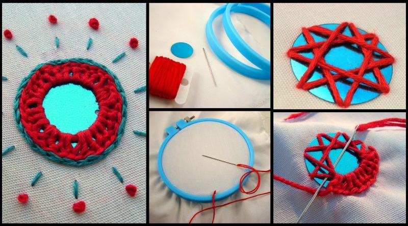 Diy hand embroidery mirror work designs art craft ideas