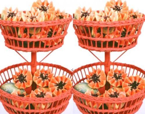 how to make newspaper fruit basket art craft ideas