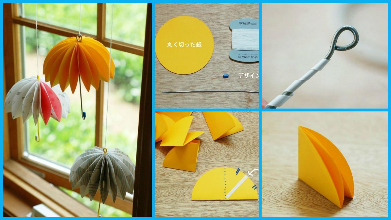 How To Make A Paper Umbrella Art amp Craft Ideas