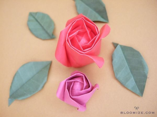 how to make a paper rose origami step by step