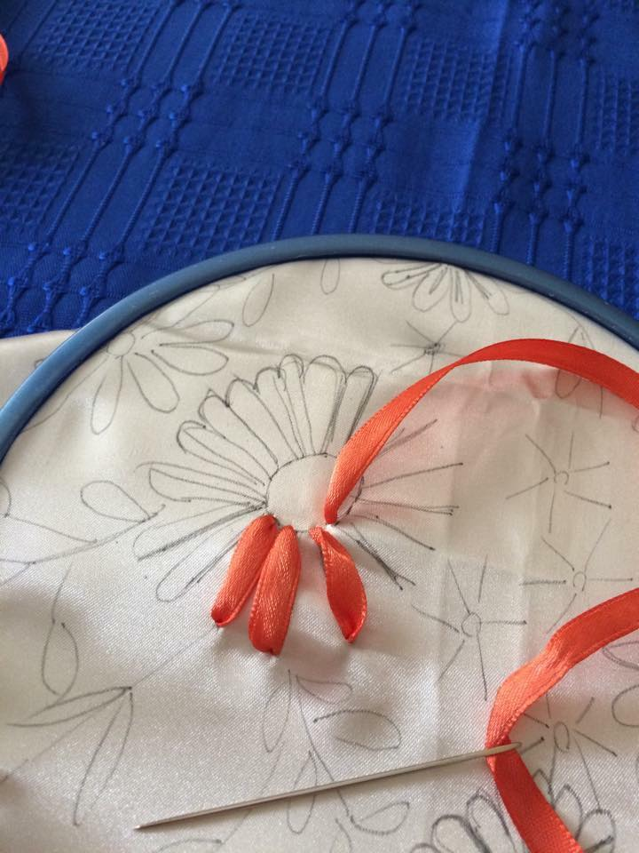 Ribbon Embroidery Step By Step Art Amp Craft Ideas