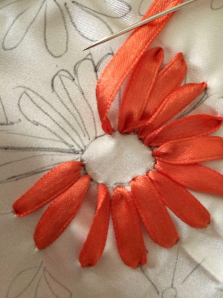 Ribbon embroidery Step By step - Art & Craft Ideas