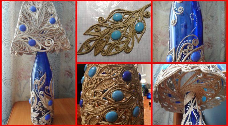 Diy handmade jute lampshade art craft ideas for Pearl arts and crafts closing
