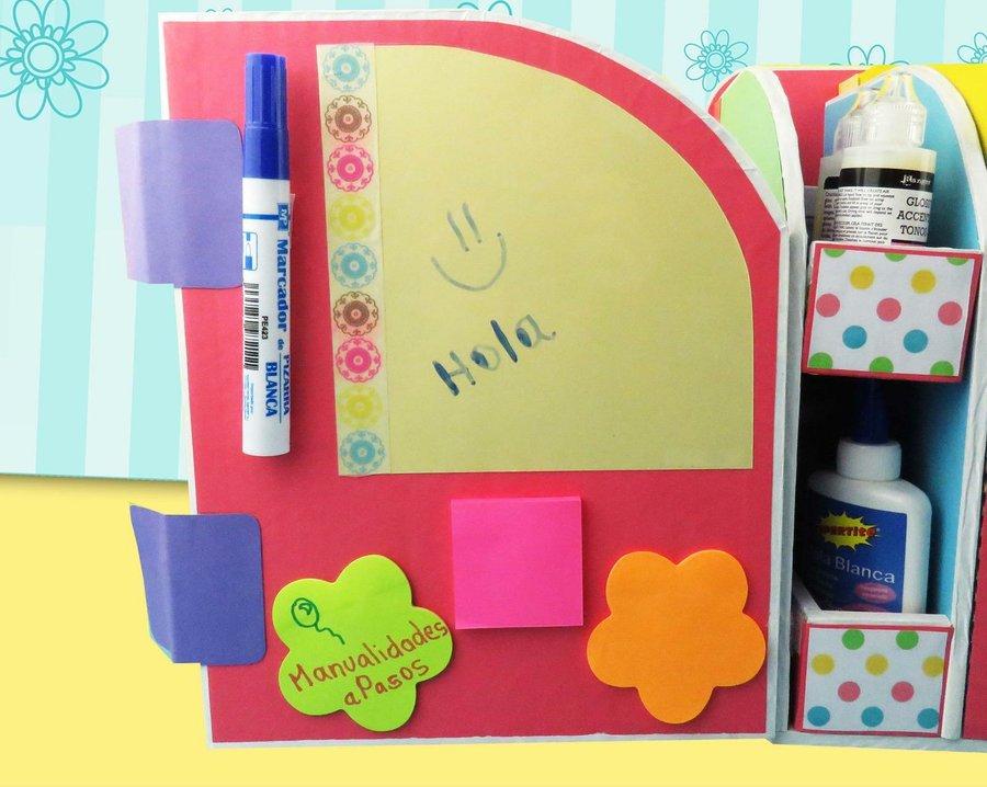 Diy beautiful desk organizer from cardboard art craft - Tablero escritorio ...