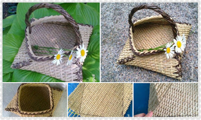 DIY Weaving Newspapers Basket