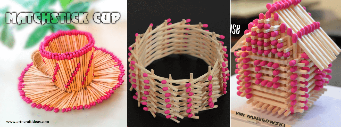 Matchstick Craft Tutorials House Circle Cup Stars