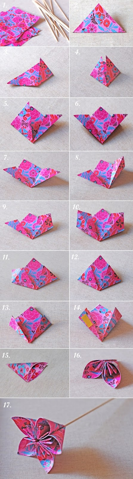 How to make a origami kusudama flower art craft ideas 1 cut paper making squares of 10 cm mightylinksfo