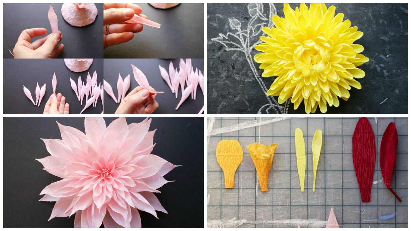 How To Make Crepe Paper Flower Art Craft Ideas
