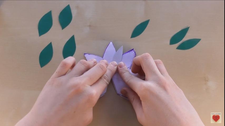 how to make 3d flower pop-up card