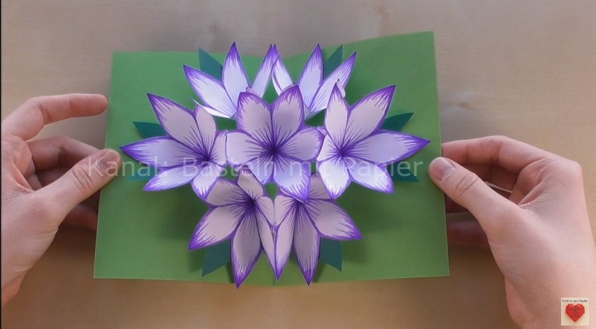 How To Make 3d Flower Pop Up Card Art Amp Craft Ideas