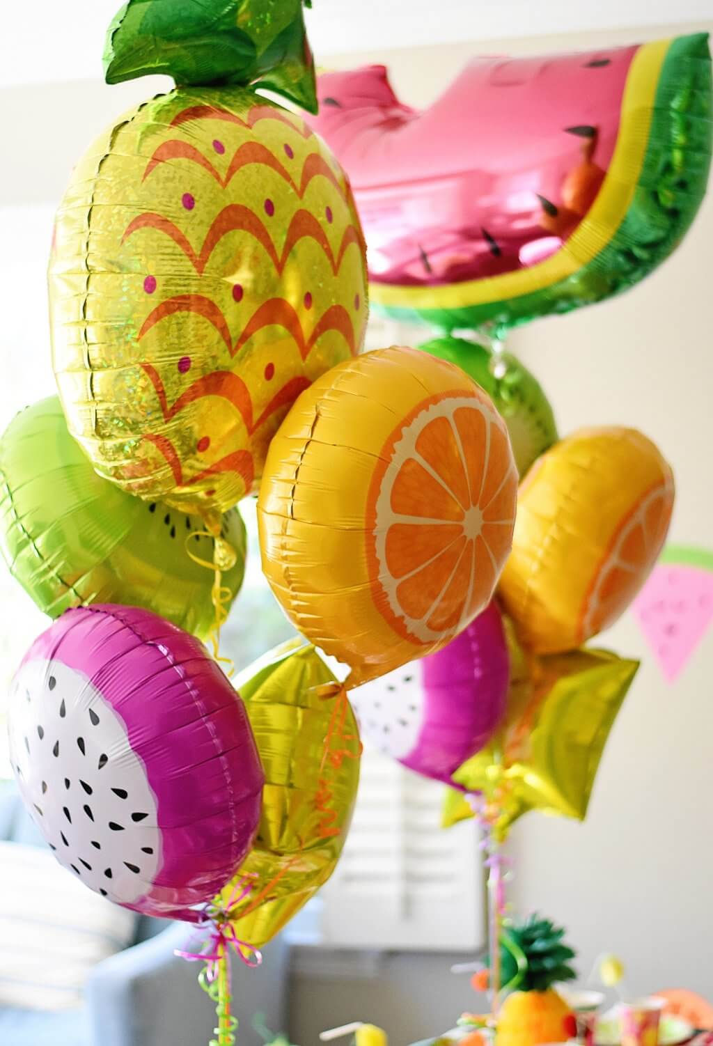 DIY Cute And Colorful Tutti Frutti Birthday Party
