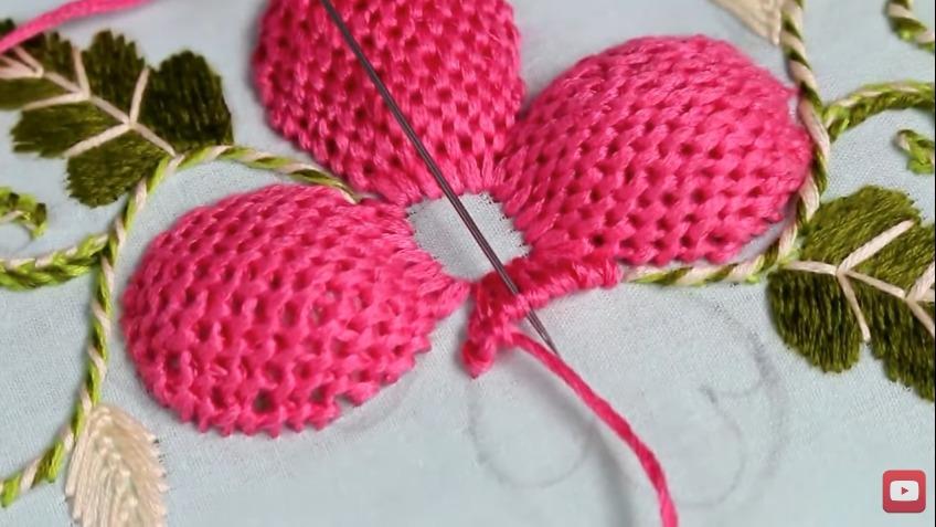 Pump Lace Stitch Flower Embroidery Designs Art Craft Ideas