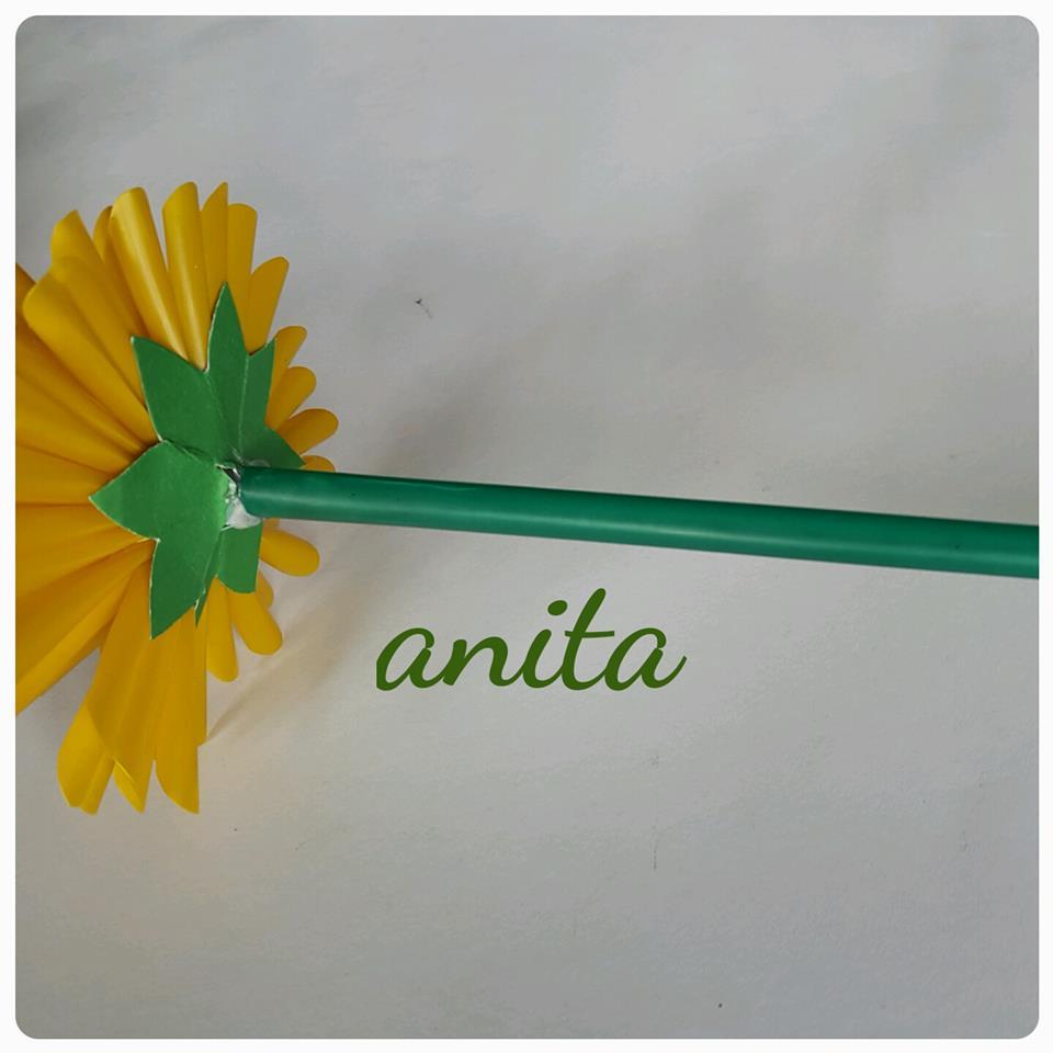 diy easy straw flower tutorial   art amp craft ideas