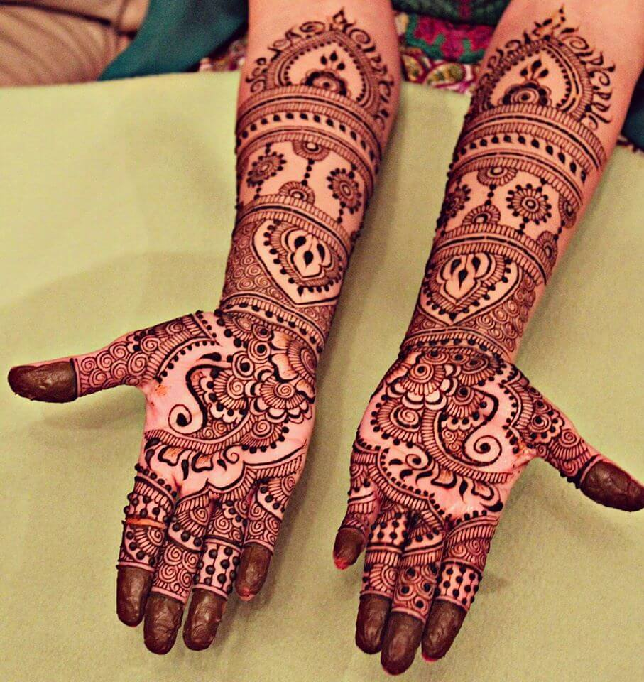 Bridal Mehndi Themes : Latest bridal henna mehndi designs art craft ideas