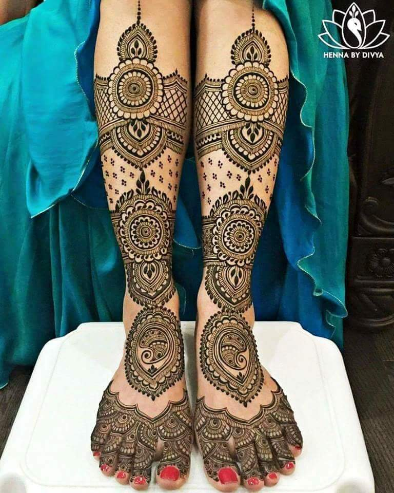 Mehndi Patterns Bridal : Best bridal mehndi design for legs art craft ideas