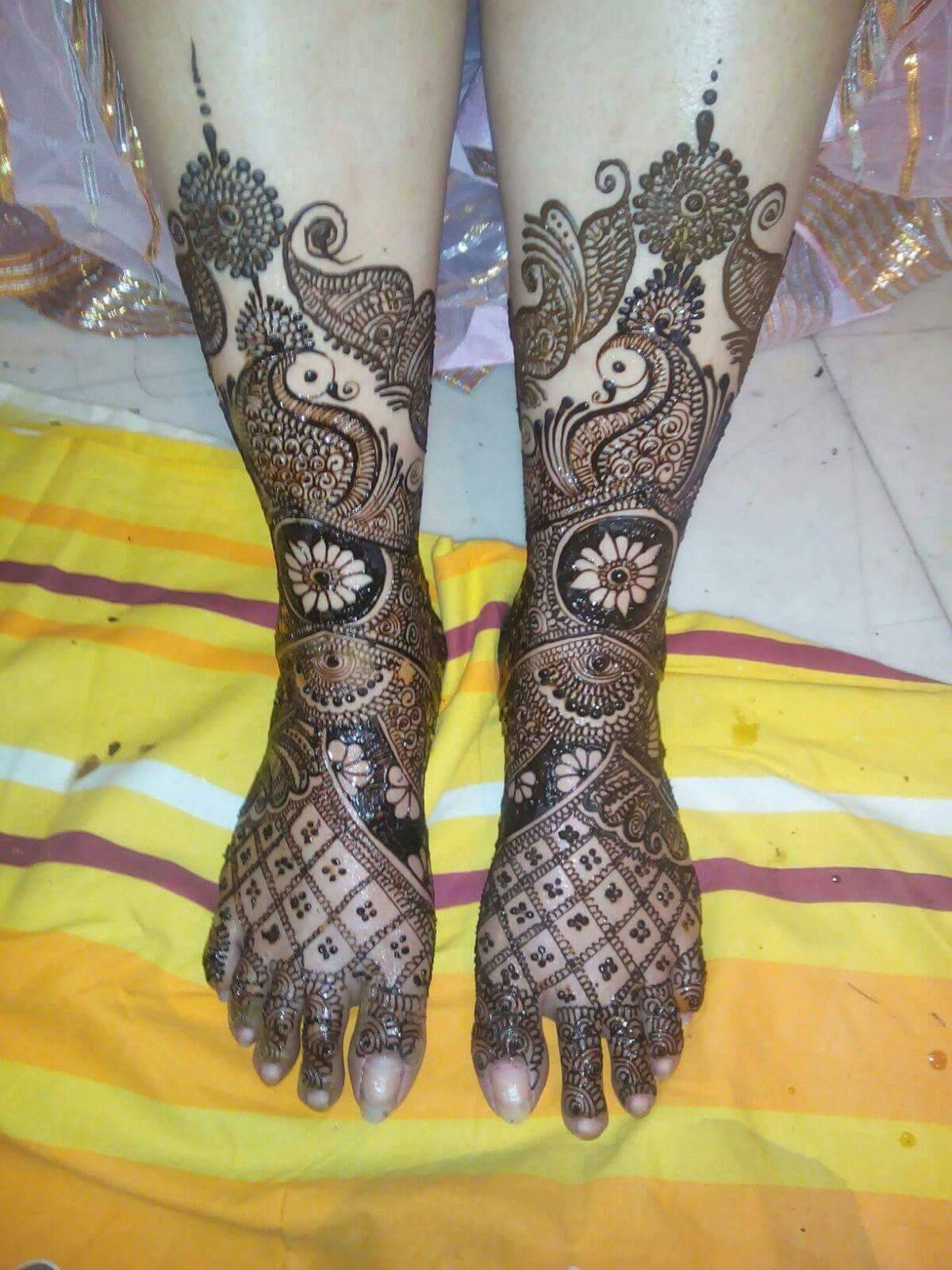 Best 25 Bridal Mehndi Design for Legs - Art & Craft Ideas