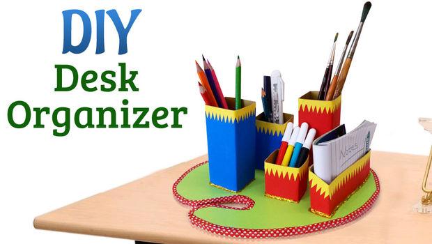 how to make a desk organizer