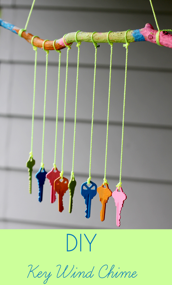 5. The Best Kind Of Music Is The Natural Kind! Caress The Wind With This  One Of Its Kind Recycled Key Wind Chime.