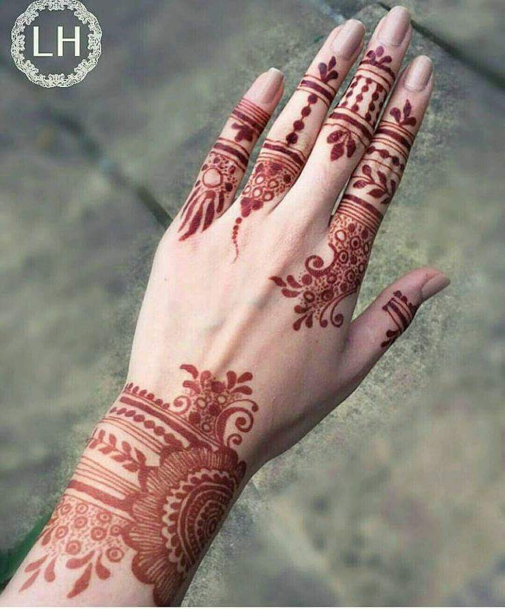 30 easy henna mehndi designs for every occasion art. Black Bedroom Furniture Sets. Home Design Ideas