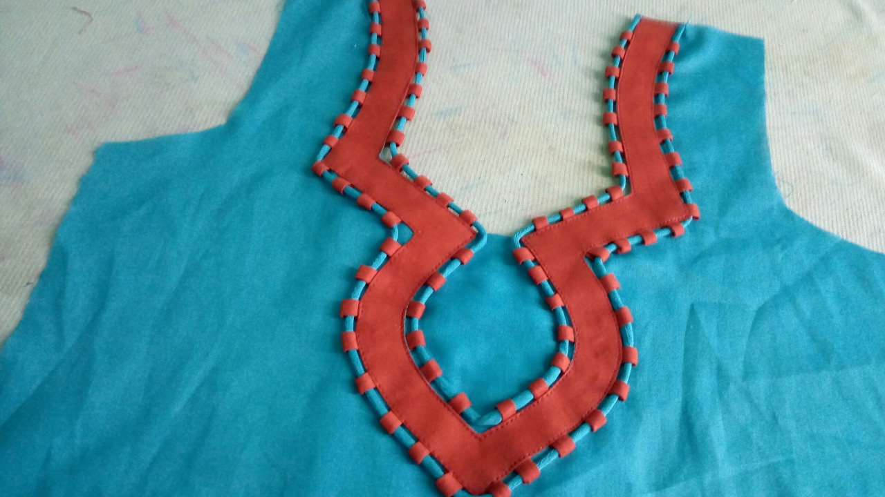 how to sew piping neck design art amp craft ideas