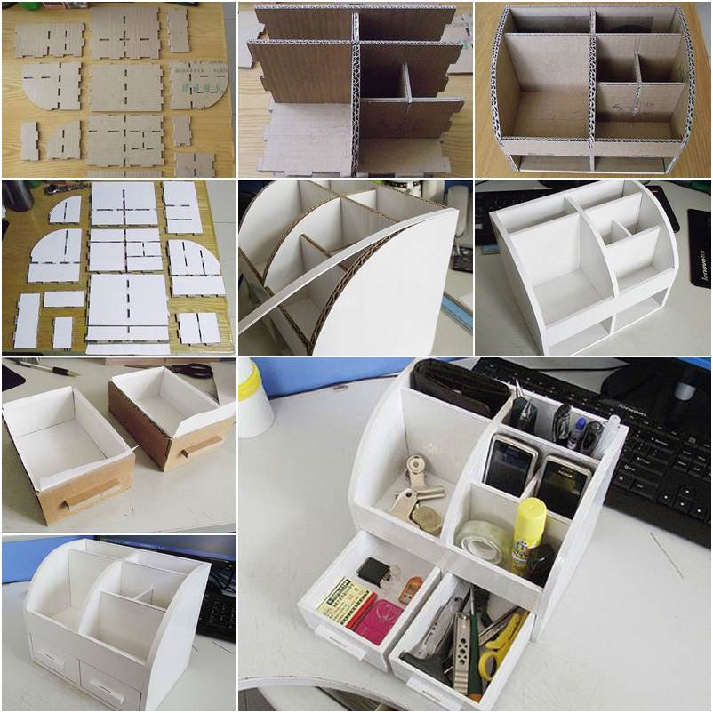Diy cardboard desk organizer with drawers affordable art craft diy cardboard desk organizer with drawers affordable art craft ideas solutioingenieria Gallery