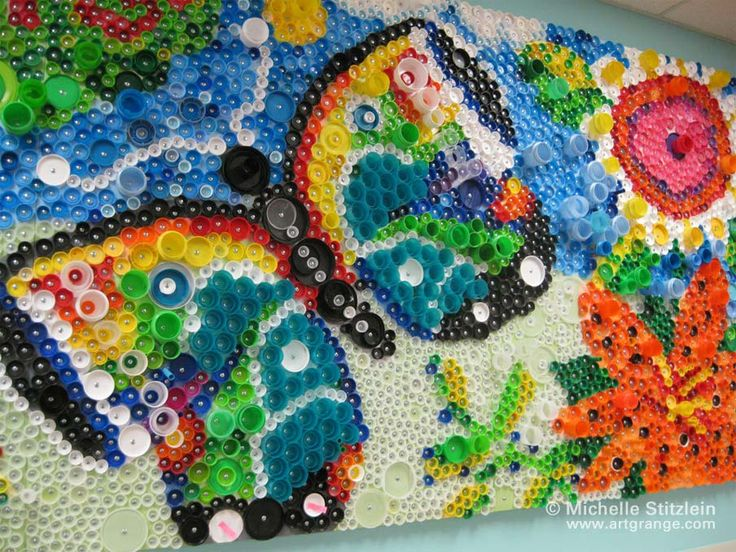 Kids Craft Artistic Ways To Recycle Bottle Caps Art Craft Ideas
